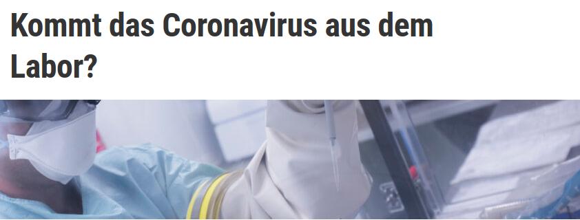 Corona Virus Aus Dem Labor
